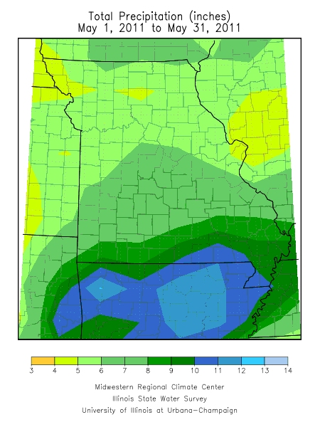 Precipitation May 1, 2011 - May 31, 2011