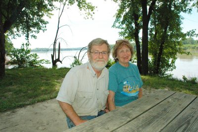 Robert and Linda Lou Brown, owners of Katfish Katy's campground along the Missouri River, see the effects of this year's rains.