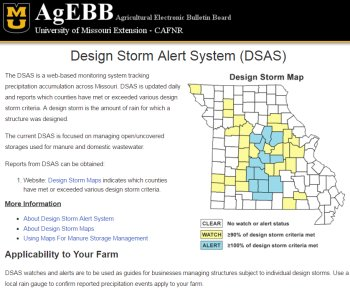Design Storm Alert System website